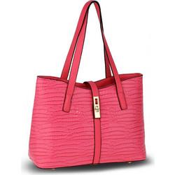 4f0bc9c531 Γυναικεία λουστρίνι τσάντα κροκό AG00710 - Φούξια .