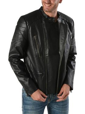 f6c08b537c Basehit PU Fake Leather Jacket 172.BM16.04-Black