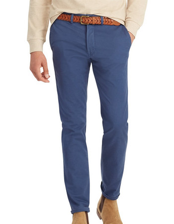 971bc68430a1 Polo Ralph Lauren ανδρικό παντελόνι μπλε Stretch Slim Fit Cotton Chino -  710704176025 - Μπλε