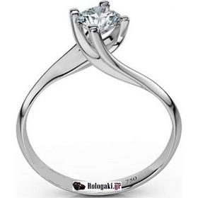 Λευκόχρυσο Κ18 μονόπετρο δαχτυλίδι αρραβώνα με μπριγιάν 0.24ct-LD039 cf1aae475f5
