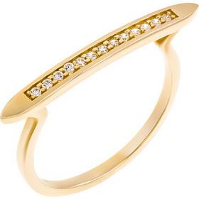 Δαχτυλίδι από χρυσό 14 καρατίων με μοντέρνο γραμμικό σχέδιο και ζιρκόν.  KS17880 2e1e4225a57