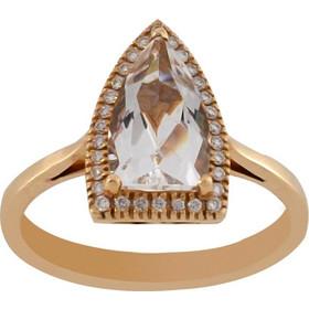 Δαχτυλίδι ροζ χρυσό 18 καράτια με μπριγιάν 0.12ct και quartz 1.54ct 908b80cac08