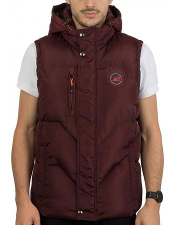 7662f3a5c4a Ανδρικό Αμάνικο Μπουφάν Γιλέκο Puffer Jacket με Κουκούλα ICE TECH G525  Cherry