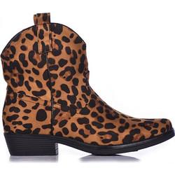 e45c1182320 Μποτάκια λεοπάρ δερματίνη μυτερά 3816130leo. Tsoukalas Shoes