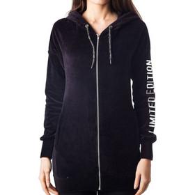 cca3a621e0dc Paco + Co Wmn s Graphic Zipper Velvet Hoodie 3602 Black