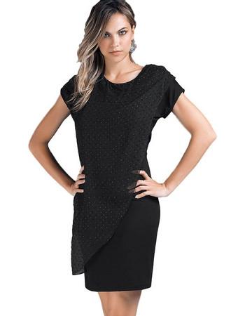Jadea μαύρο βισκόζ με τούλι και στρας φόρεμα Tintoretto 4850D 2c4bed752b3