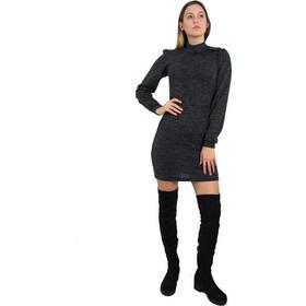 71cc6537a84e Γυναικείο μαύρο μάλλινο φόρεμα λουπέτο κορδέλα Benissimo 91936