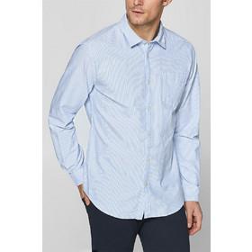 4487f9146595 Esprit ανδρικό ριγέ βαμβακερό πουκάμισο με τσέπη - 128EE2F008 - Γαλάζιο