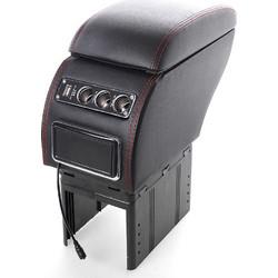 c1e0935cc3 Κονσόλα χειροφρένου - universal τεμπέλης αυτοκινήτου με USB και 3 θύρες  αναπτήρα - Μαύρο