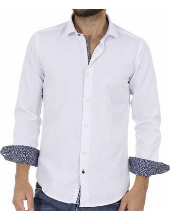 41768bfdb574 Ανδρικό Μακρυμάνικο Πουκάμισο Slim Fit ENDESON CLUB 6035-100 Λευκό