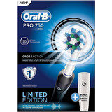 Oral-B Professional Care 750 Cross Action Limited Edition Black + Travel Case