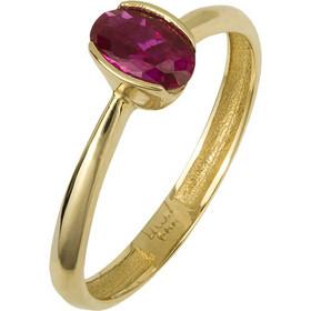 Χρυσό δαχτυλίδι με κόκκινη πέτρα 14Κ 024747 024747 Χρυσός 14 Καράτια ee673b276d3