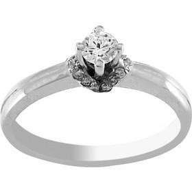 Δαχτυλίδι μονόπετρο λευκόχρυσο 18 καράτια με μπριγιάν 0.27ct 1ed151d8ee8