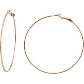 Σκουλαρίκια Μεταλλικά Loisir Σε Χρώμα Ροζ Χρυσό Κρίκοι 60mm 9c50186a90a