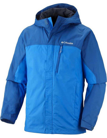 Αδιάβροχο αντιανεμικό ανδρικό μπουφάν Columbia Pouring Adventure Jacket  Hyper Blue Μπλε Columbia 64469ae4531