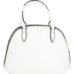 Γυναικεία λευκή τσάντα ώμου με πλεκτή αλυσίδα 533031C 90170add7af