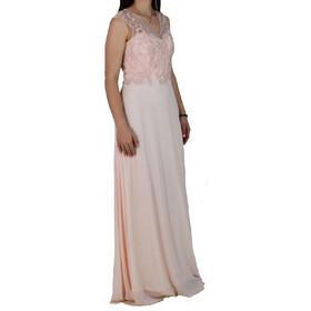 4480b00bfbd Φόρεμα Αμπιγιέ M-8491 Ροζ Πούδρα m-8491 roz