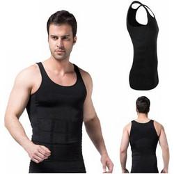 Ανδρική Φανέλα Σύσφιξης Και Αδυνατίσματος Μαύρη Lastex - Slim N Lift Shirt d7573080d76