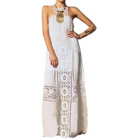 9813bc7eea6c Φόρεμα Boho Σε Λευκό