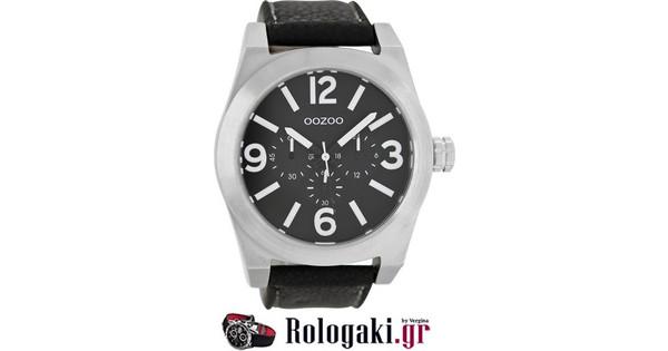 Oozoo Timepieces XL Black Leather Strap C6734  e084cb5eb65