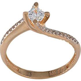 Δαχτυλίδι μονόπετρο ροζ χρυσό 14 καράτια με ζιργκόν 4 χιλιοστά f3a56e8c4c1
