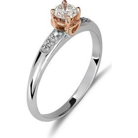 Μονόπετρο δαχτυλίδι από λευκό και ροζ χρυσό 18 καρατίων με ένα κεντρικό  διαμάντι 0.33ct και 603ed407c12