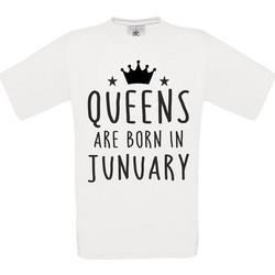 T-shirt Queens are born in Junuary Κωδ.4651 3cbd6420dfd