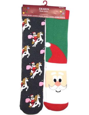 Κάλτσες πετσετέ 2τμχ με χριστουγεννιάτικα μοτίβο c5a8bfb96ec