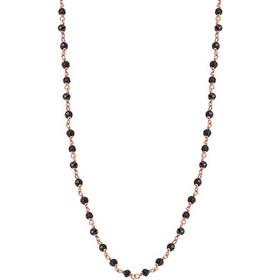 Κολιέ 14Κ Ροζ Χρυσό με Μαύρες Πέτρες - 01-12594 6764a074dd7