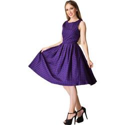 ae57bbfbb3b vintage pin up φόρεμα Lolita purple πουά