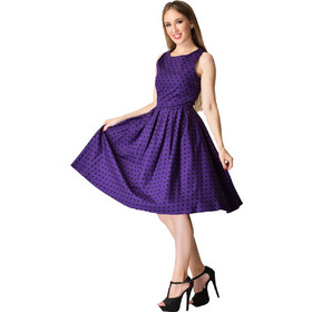 f392e38ad74f vintage pin up φόρεμα Lolita purple πουά