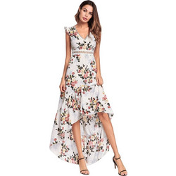 09d01f3ddfd3 2018 Spring New Style European Female Flying Sleeves Princess Dress  Graceful Backless Irregular Swallowtail Long Dress