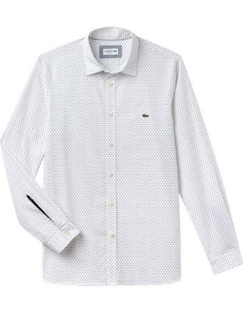 Lacoste ανδρικό πουκάμισο με μικροσχέδιο και λεπτομέρεια στο μανίκι The 4  Essential Shirts of the Season 442af5ca3e0