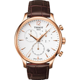 Tissot Tradition Rose Gold Brown Leather Chronograph T0636173603700