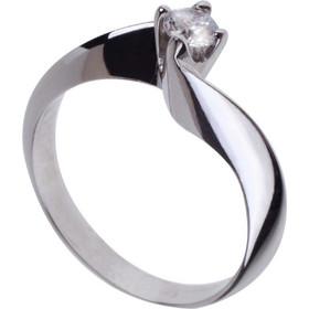 Γυναικείο μονόπετρο δαχτυλίδι σε λευκό χρυσό Κ18 με μπριγιάν Φλόγα adabd00a5cd