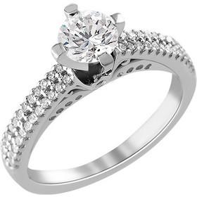 Μονόπετρο δαχτυλίδι Κ18 λευκόχρυσο με διαμάντι κοπής brilliant - MBR095 06989d56844