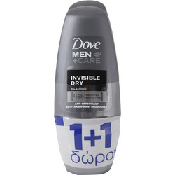 Dove Men Care Invisible Dry Roll On 2x50ml
