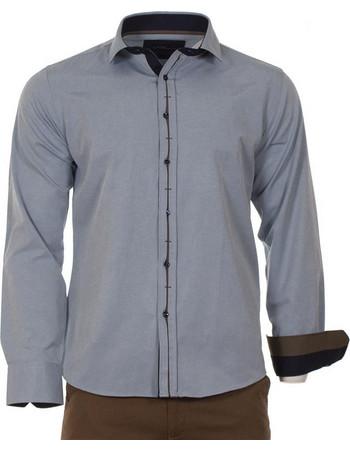 Ανδρικό Μακρυμάνικο Πουκάμισο Slim Fit CND Shirts 1700-7 Θαλασσί 67d2c4c4432