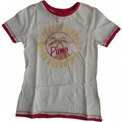 f7862162bed4 Παιδικά Κοντομάνικα Μπλουζάκια Puma Λευκό Ρόζ