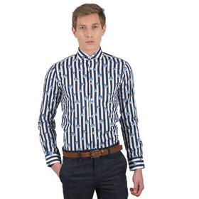 77023012427e GUARDAROBA shirt PG-600 2746 white-blue