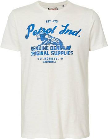 e7a6f0830398 T-shirt με στρογγυλή λαιμόκοψη Petrol Industries (M-SS18-TSR604-CHALK