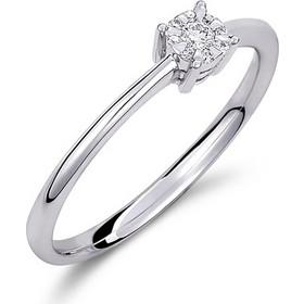 Δαχτυλίδι illusion από λευκό χρυσο 18 καρατίων με ένα κεντρικό και 8  περιμετρικά διαμάντια που δημιουργούν 626edaa84a4
