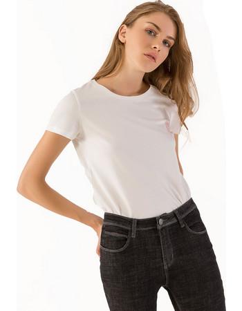 f8c7ebe978c5 Μονόχρωμο t-shirt με μήνυμα - Λευκό
