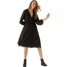e5459c494ee Midi κρουαζέ φόρεμα με λάστιχο στη μέση - Μαύρο