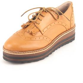 Γυναικεία Δερμάτινα Παπούτσια τύπου Oxford. Σχέδιο K300 Καφέ 64e3ca9b062