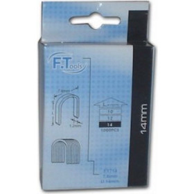 F. TOOLS FT614 CABLE TACKER STAPLES U14mm ΚΑΡΦΩΤΙΚΑ ΚΑΛΩΔΙΩΝ FT-614