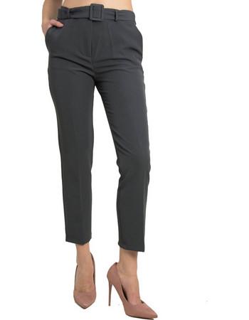Γυναικείο γκρι υφασμάτινο παντελόνι Chinos Coocu 41315L 4786cda7bd7