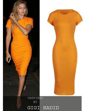 basic allday viscose φόρεμα σε κίτρινο mustard 1a26fe12259