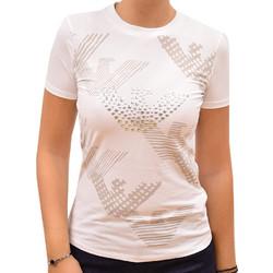 4f8d2e549714 EMPORIO ARMANI T-SHIRT BIANCO OTTICO WOMAN