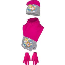 Παιδικό Σετ Σκούφος - Κασκόλ και Γάντια Χρώματος Φούξια Frozen Disney HO4093 33c470ef883